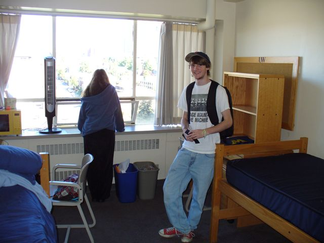 Charles Moved Into His Dorm Room At The University Of Washington In Seattle.